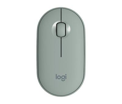 Miš LOGITECH M350 Pebble, optički, bežični, zeleni, USB