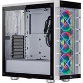 Kućište CORSAIR iCUE 465X, RGB, window, MIDI, ATX, bijelo, bez napajanja
