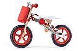 Dječji drveni bicikl bez pedala crveni Woodyland