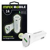 Auto punjač za mobitel MAXMOBILE SC-209 QC 3.0, bijeli