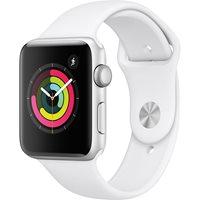 Pametni sat APPLE Watch Series 3 42mm, GPS, srebrni, bijeli sportski remen