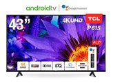 "LED TV 43"" TCL 43P615, Android TV, 4K UHD, DVB-T2/C/S2, HDMI, Wi-Fi, USB, energetska klasa A+"
