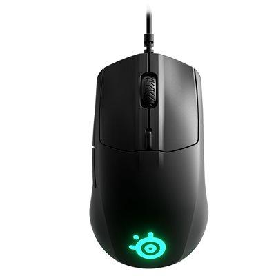 Miš STEELSERIES Rival 3, optički, RGB, 8500 CPI, mat crni, USB