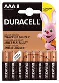 Baterija DURACELL Base Alkaline AAA  LR03/MN2400, 8 komada