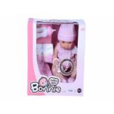 Lutka Bonnie 30 cm sa 12 zvukova sa bočicom i pelenom