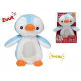 Plišani pingvin plavi 22 cm sa svijetlom i zvukom
