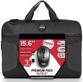 """Torba za notebook PORT Premium pack Portland Toploading Case, 15.6"""", crna + bežični miš"""