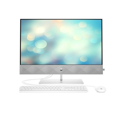 "Računalo AiO HP 24-dp0108ny 236Q7EA / Ryzen 5 4500U, 8GB, 512GB SSD, Radeon Graphics, 23.8"" IPS FHD, tipkovnica, miš, FreeDOS, srebrno"