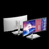 """Monitor 38"""" DELL U3821DW, IPS, 300 cd/m2, 1000:1, zvučnici, USB-C, zakrivljeni, srebrni"""