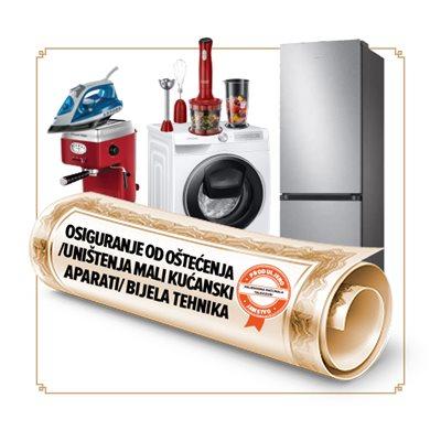 Osiguranje od oštećenja/ uništenja za male kućanske aparate / bijelu tehniku u trajanju od 24 mjeseci - vrijednosti uređaja 8001-9000 kn