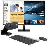 "Monitor 27"" SAMSUNG LS27AM500NRXEN, 250cd/m2, 3.000:1, crni + Tipkovnica + miš LOGITECH MK470 + Web kamera LOGITECH C270"
