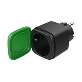 Bežična pametna utičnica DELTACO SH-OP01, IP44, paljenje/gašenje uređaja putem mobilne aplikacije, timer, WiFi, crna