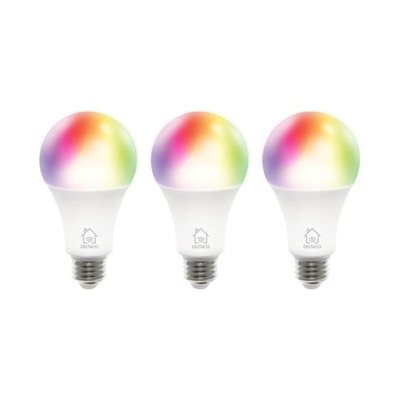Smart led žarulja DELTACO SH-LE27RGB-3P, set 3 komada, RGB, 9W, bijela