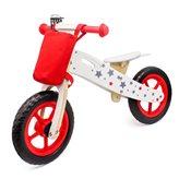 Dječji bicikl HAPPY RIDER, drveni balans bicikl bez pedala, crveni