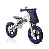 Dječji bicikl HAPPY RIDER, drveni balans bicikl bez pedala, plavi