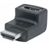 Adapter MANHATTAN, HDMI (M) na HDMI (Ž), 4K@60Hz, pod donjim kutem 90°