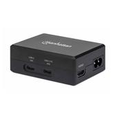 Docking station MANHATTAN, USB-C PD 45W, HDMI, 2x USB 3.2, USB-C, crni