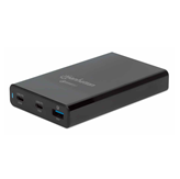 Kućni punjač MANHATTAN Charging Station 65W, 2x USB-C PD 3.0, USB, crni