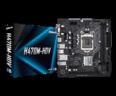 Matična ploča ASROCK H470M-HDV, Intel H470, DDR4, mATX, s. 1200 - 10Gen procesora
