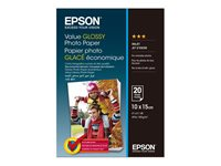 Papir za printanje EPSON Value, Glossy, 10x15cm, 20 listova