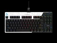 Tipkovnica LOGITECH PRO Gaming League of Legends Edition, RGB, mehanička, USB, crno/bijela