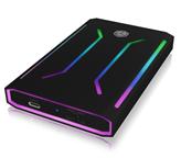 """Eksterno kućište ICY BOX IB-G226L-C31, RGB, 2.5"""" SATA SSD, USB-C, crno"""