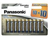 Baterija PANASONIC LR6EPS/20BW, AA, 10+10 kom