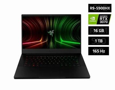 """Prijenosno računalo RAZER Blade 14 / Ryzen 9 5900HX, 16GB, 1000GB SSD, GeForce RTX 3070 8GB, 14"""" QHD 165Hz, Windows 10, crno"""