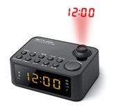 Radio budilica MUSE M-178P sa projekcijom vremena, crna
