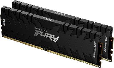 Memorija PC-25600, 32 GB, KINGSTON KF432C16RB1K2/32 FURYRenegadeBlack, DDR4 3200MHz, kit 2x16GB