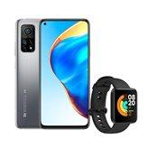 """Smartphone XIAOMI MI 10T, 6.67"""", 6GB, 128GB, Android 10, srebrni + Mi Watch Lite, Crni"""