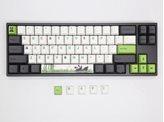 Tipkovnica DUCKY Miya Pro Panda PBT, MX Silent Red, mehanička, US Layout, siva, USB