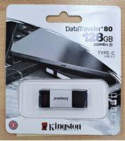 Memorija USB-C FLASH DRIVE, 128 GB,  USED KINGSTON DT80/128GB, crno-sivi
