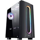 Kućište MS Industrial ARMOR V310 Gaming, MIDI, ATX, Window, Crno, Bez Napajanja