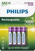 Baterija PHILIPS Rechargeables R03B4RTU10/10, tip AAA, punjive, 1000 mAh, 4kom
