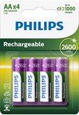 Baterija PHILIPS Rechargeables R6B4B260/10, tip AA, punjive, 2600 mAh, 4kom
