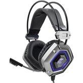 Slušalice WHITE SHARK GH -1841 Lion, mikrofon, crno/srebrne