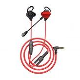 Slušalice WHITE SHARK In-ear, slušalice + mikrofon GE-536 Eagle, crno crvene