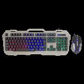Tipkovnica + miš WHITE SHARK GMK-1901 Apache-2, LED, siva, USB
