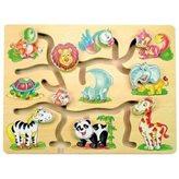 Drveni labirint s životinjama